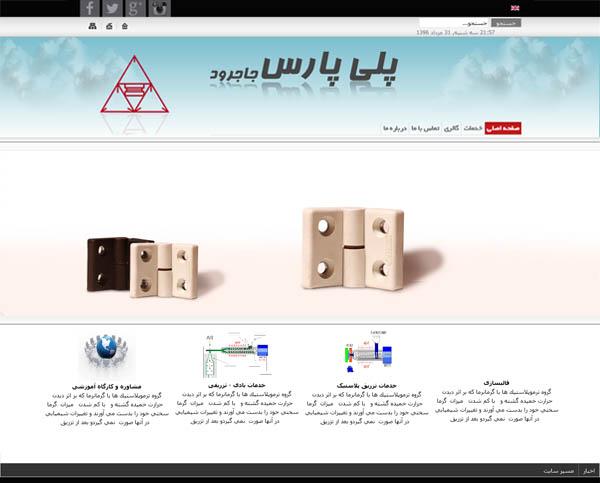 طراحی سایت شرکت پلی پارس